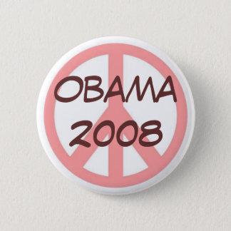 Rosa de botão Brown de Obama 2008 Bóton Redondo 5.08cm