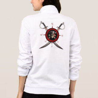 Rosa de compasso do crânio do pirata jaqueta com estampa