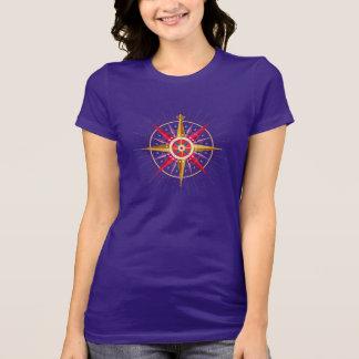 Rosa de compasso iconográfico tshirts