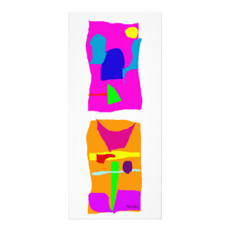 Rosa de construção e laranja 10.16 x 22.86cm panfleto