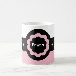 Rosa de Emma e caneca pontilhada branco: 369