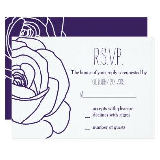 Rosa de florescência do roxo, cartões da resposta