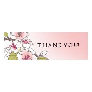 Rosa de florescência do Tag do presente das flores Cartão De Visita Skinny