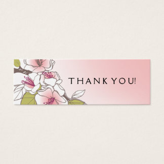 Rosa de florescência do Tag do presente das flores Cartão De Visitas Mini