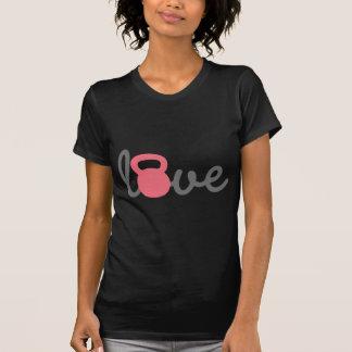 Rosa de Kettlebell do amor Camiseta