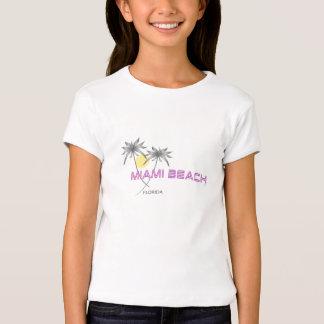 Rosa de Miami Beach Florida Camiseta