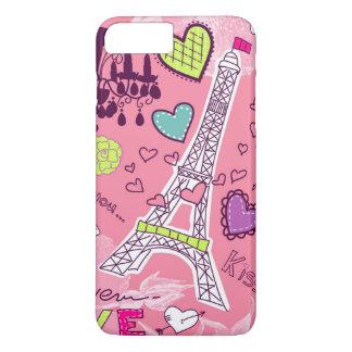 Rosa de Paris France do amor da torre Eiffel Capa iPhone 7 Plus