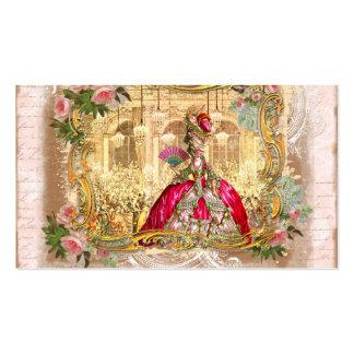 rosa de rosas de quadro dourado do marie de Versal Cartão De Visita