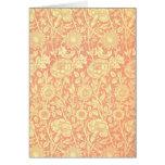 Rosa de William Morris e design do rosa Cartão Comemorativo