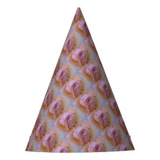 Rosa delicado chapéu de festa