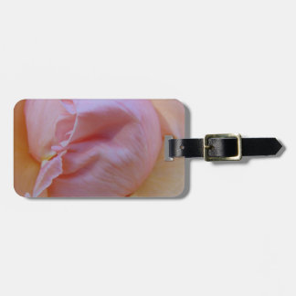 Rosa delicado etiqueta de bagagem