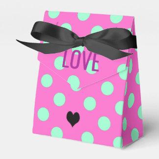 Rosa do amor & caixas do partido do favor das