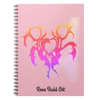 rosa do caderno