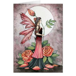 Rosa do cartão da fada do fogo