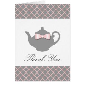 Rosa do chique + Cartões de agradecimentos