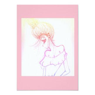 rosa do convite 5x7