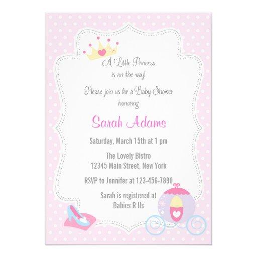 Rosa do convite da princesa chá de fraldas