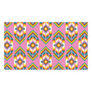 Rosa do design do nativo americano cartão de visita