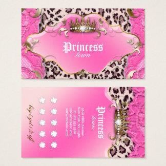 Rosa do laço do leopardo do cartão da lealdade da