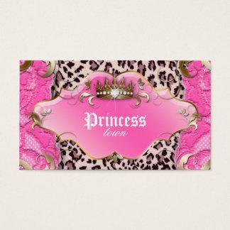 Rosa do laço do leopardo do cartão de visita da