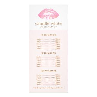 Rosa do maquilhador e tabela de preços cor-de-rosa 10.16 x 22.86cm panfleto