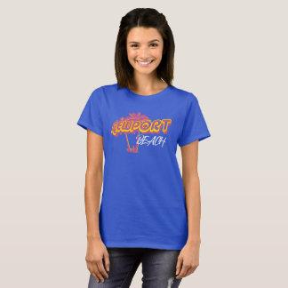 Rosa do néon da praia de Newport Camiseta