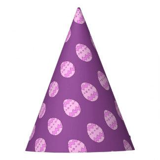 Rosa do ovo da páscoa chapéu de festa