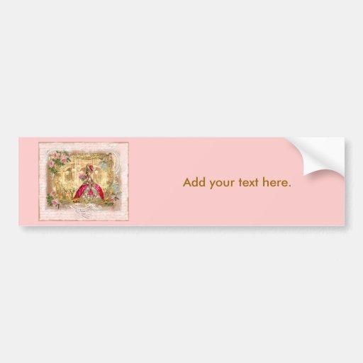 Rosa do partido de Marie Antoinette Versalhes Adesivo