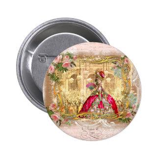 Rosa do partido de Marie Antoinette Versalhes Boton