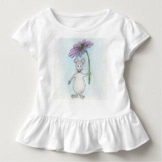 Rosa do rato de Molly e T Ruffled roxo da criança Camiseta Infantil