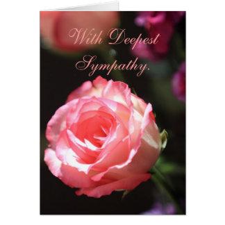 Rosa do rosa, cartão de simpatia