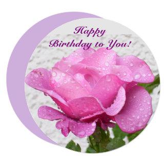 Rosa do rosa - cartão floral com citações