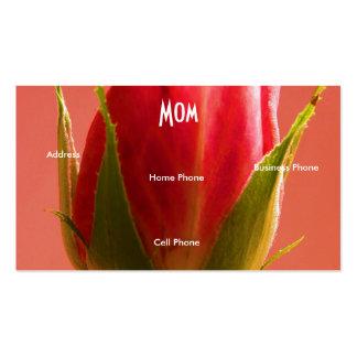 Rosa do rosa da mamã cartão de visita