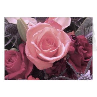 Rosa do rosa eu te amo, cartão do bebê