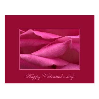 Rosa do rosa - feliz dia dos namorados cartão postal