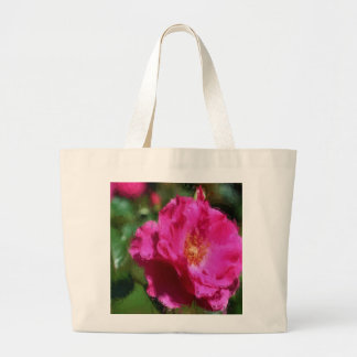 Rosa do rosa que tira a sacola floral bolsas de lona