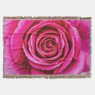 Rosa do rosa quente manta
