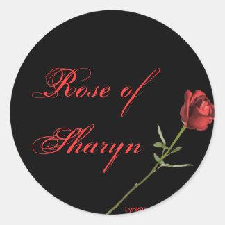 Rosa do sharyn adesivo redondo