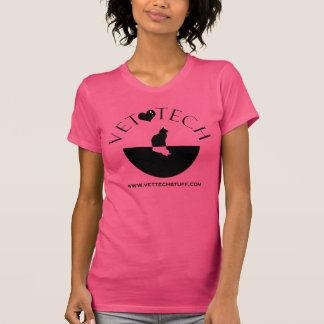 rosa do T da tecnologia do veterinário Camiseta