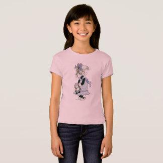 """Rosa do t-shirt da menina de Sarah Kay """"Pia"""" Camiseta"""