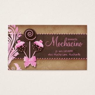 Rosa do vintage da padaria do cartão de visita de