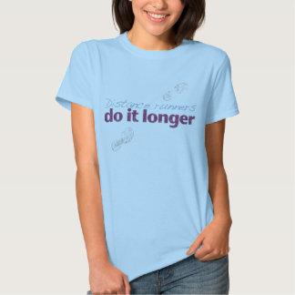 Rosa dos corredores de distância camisetas