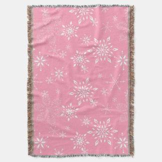 Rosa dos flocos de neve manta