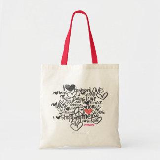 Rosa dos grafites bolsa para compras