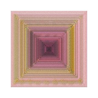Rosa e arte das canvas do ouro