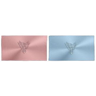Rosa e azul seus e dela Pheonix de aumentação