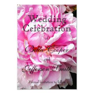 Rosa e branco - convite do casamento