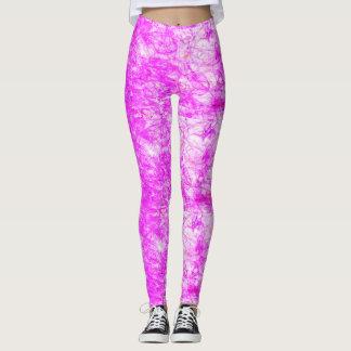 rosa e branco leggings