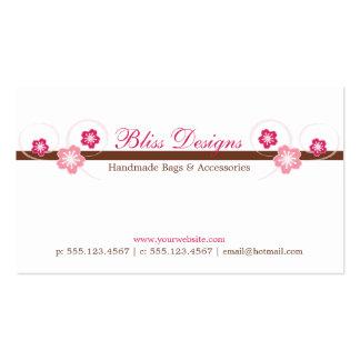Rosa e cartão de visita de Brown Sakura