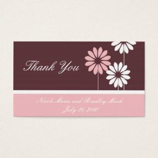 Rosa e cartões de agradecimentos do casamento da